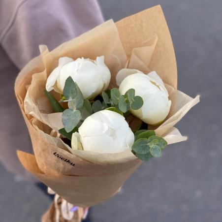 Bouquet of peonies  - 3 amount