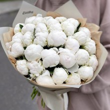 Bouquet of White Peonies - PRICE FROM