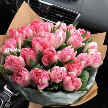Bouquet of peony tulips Foxtrot