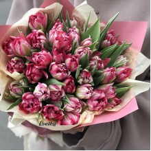 Bouquet of peony tulips Flash Point