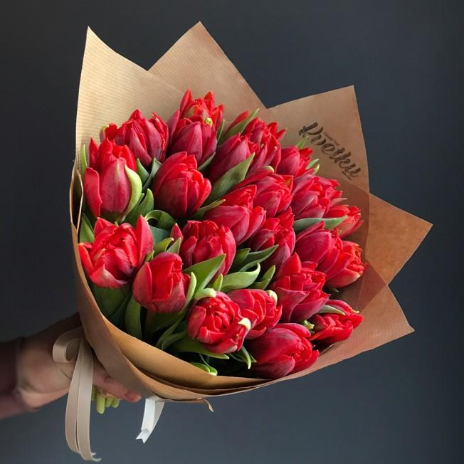 Red Princess Peony Red Tulips