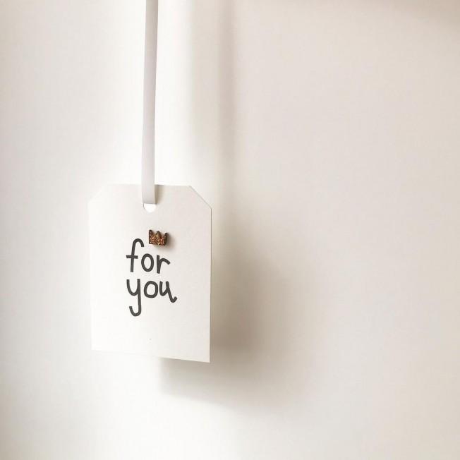 "Postcard-tag ""For you"""