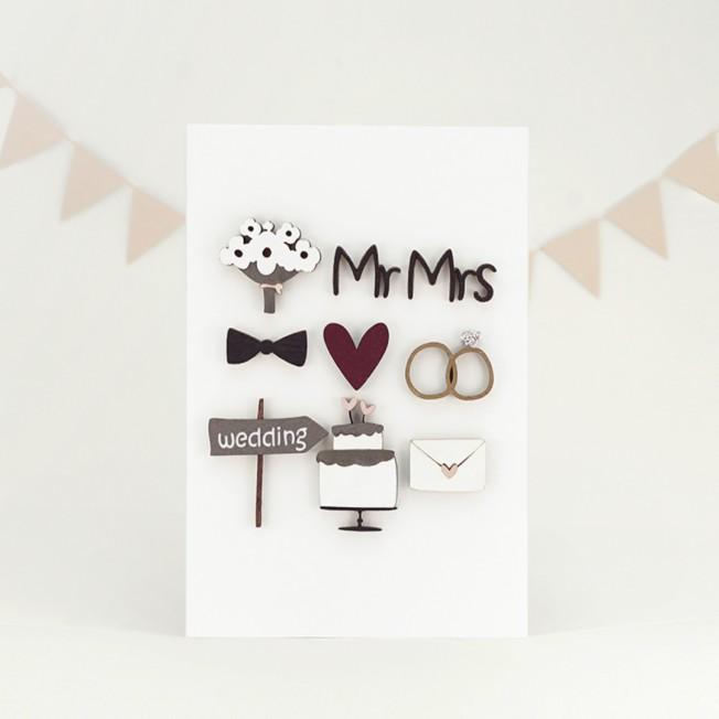"Postcard ""Wedding"""