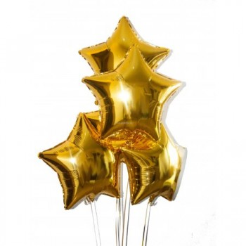 Gold foil stars from 5pcs