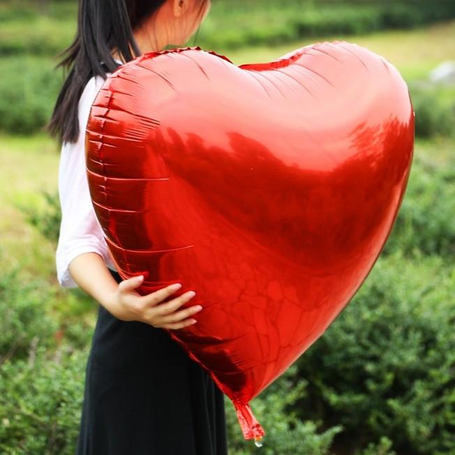 """Фольгированное сердце большое 32"""" / 81 см - от 3 штук"""