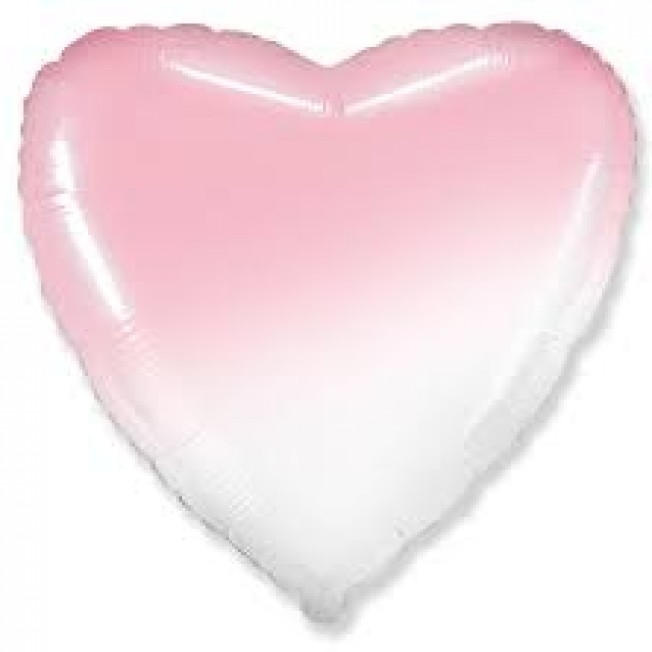 Foil hearts gradient pink from 5pcs