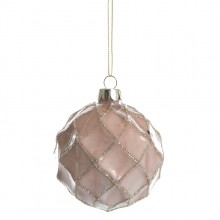 Christmas tree toy - a ball of glass 8 cm OZB06036
