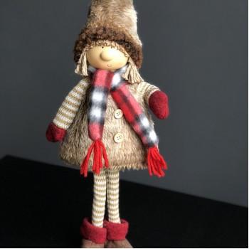 Figurine girl New Year's 37 cm
